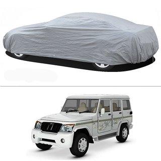 Stylobby Silver Car Cover For Mahindra Bulero