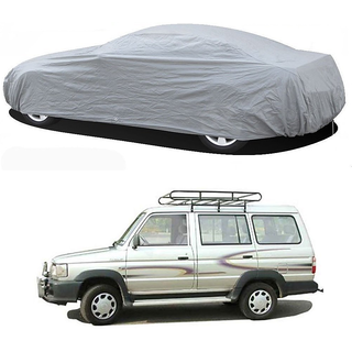 Stylobby Silver Car Cover For Toyota Qualis