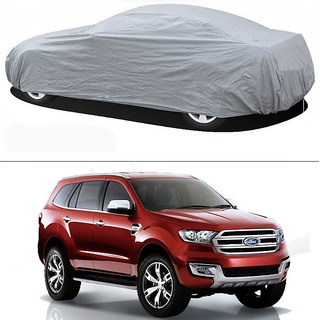 Stylobby Silver Car Cover For Ford Endeavour