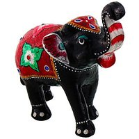 Halowishes Paper Mache Elephant Showpiece Handicraft Gifts