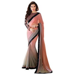 Porcupine Self Design Georgette Bollywood Sari PN-SR-PM-510