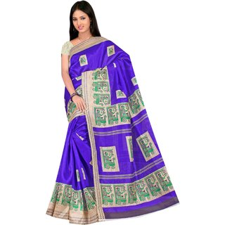 Fabplus Multicolor Linen Floral Saree With Blouse