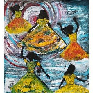 Enjoy Acrylic On Canvas Painting