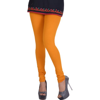 Dora Women's Churidar Leggings (H011, Yellow, Free Size)