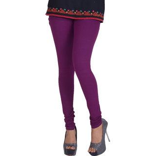 Dora Women's Churidar Leggings (H019, Purple, Free Size)