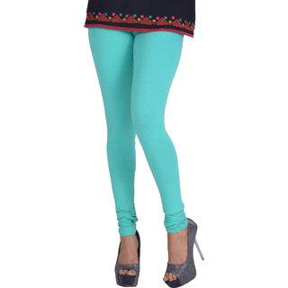 Dora Women's Churidar Leggings (H025, Light Green, Free Size)