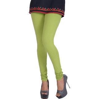 Dora Women's Churidar Leggings (H040, Light Green, Free Size)