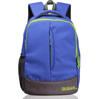 F Gear Blue Green Polyester Casual Backpack
