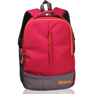 F Gear Red Orange Polyester Casual Backpack