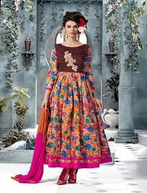Thankar Banglori Silk And Bhagalpuri Print PINK Anarkali Suit