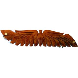 Marble Handmade Stylish Peacock Hair Clip Brown Color