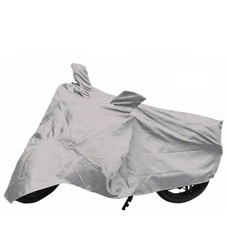 Favourite Bikerz Silver Polyester Body Cover For Bajaj Platina 100 DTS-I