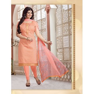 Thankar Heavy Pink Cotton Salwar Kameez