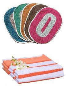 Iliv Combo Of 2 Door Mats  2 Hand Towels