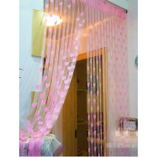 Geonature Baby Pink Heart Curtains Set of 2 size 4x7 (GHC2-36)