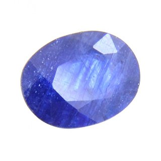 JAIPUR GEMSTONE 5.25 CARAT NEELAM STONE (SUGGESTED) BLUE With Six Mukhi Rudraksh