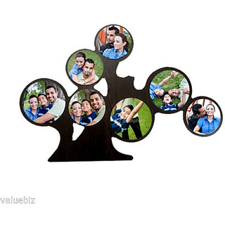Personalized 7 Round Tree Collage Photo Frame, Customize with Your 7 Pictures
