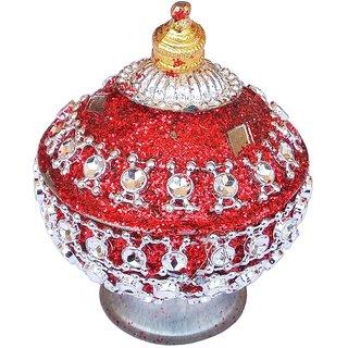 Traditional Handmade Kumkum/Sindoor Box-Red Color
