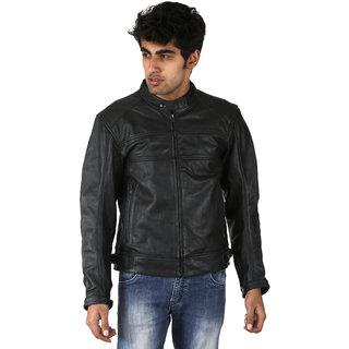 Shagoon Emporium Black Casual Regular Fit Leather Jacket
