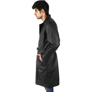 Shagoon Emporium Sheep Nappa Black Casual Regular Leather LongCoat
