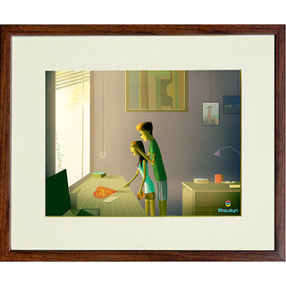 Unique Valentines Day Gift - Shaukyn Surprise your valentine Special Digital Art Wall Painting (Limited Edition)