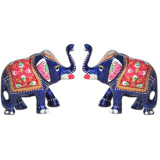 Buy Handicrafts Paradise Set Of 2 Rajasthani Elephants Wmp15019