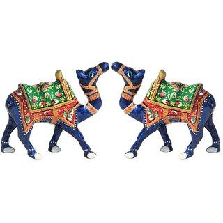 Buy Handicrafts Paradise Set Of 2 Kathidar Camels Wmp15023 Online