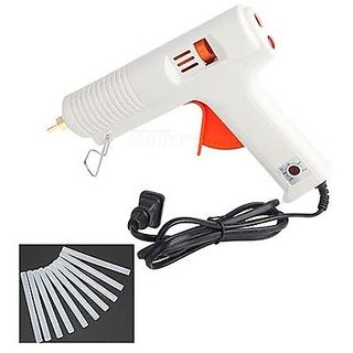 Hot Melt Glue Gun +10 Glue Sticks 100W Adjustable Constant Temperature