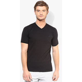 Black V Neck T-Shirt For Men