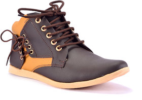 Boysons brown stylish high ankle length boots(opera24-brwn)