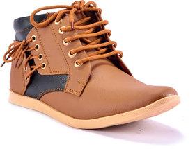 Boysons Men's Tan Lace-up Boots