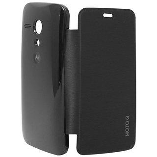 Snaptic Hi Grade Black Flip Cover for Motorola Moto G2