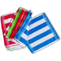 Iliv Cotton Blue,White Face Towels (6X9 Inch) Combo Of 6