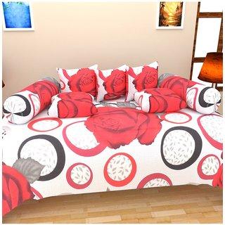 Akash Ganga Multi-Colour Cotton Diwan Set- Pack of 8
