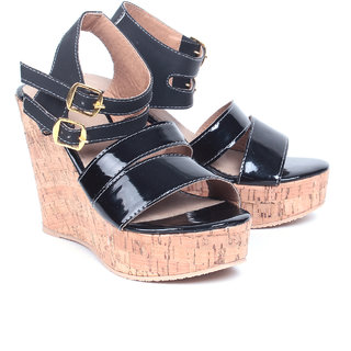 Nell Women's Black Wedges