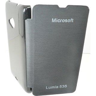 Snaptic Hi Grade Black Flip Cover for Microsoft Lumia 535