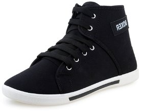 Mens Black Lace-Up Casual Shoes