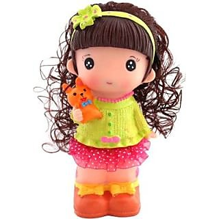Abhika Studio Cute Doll Toy Money Saving Bank
