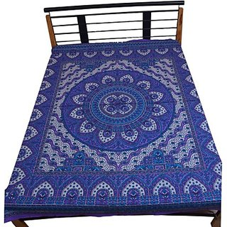 Cotton Printed Double Bed sheet(1 Bed sheet, Multicolored)