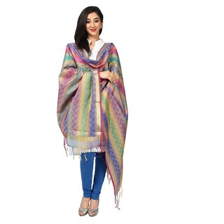 Kataan Bazaar Multi Color Resham With Zari Work Banarasi Dupatta