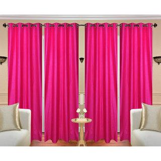 Deepanshi Handloom set of 4 Door Curtains (7x4 feet)