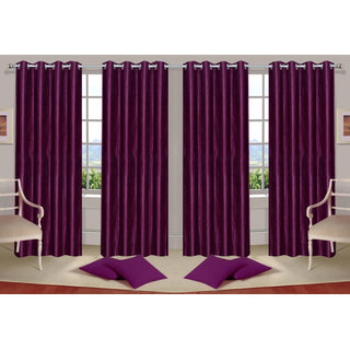 Deepanshi handloom set of 4 Door Curtains (7x4 feet)
