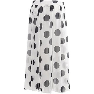 Desi Panache Polka Print Womens Mid-calf Length Synthetic Casual Regular Skirt