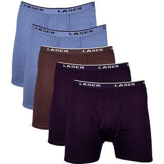 Laser O/E Trunk - Pack of 5 (2Light Blue-2Black-Dark Brown)