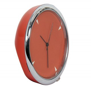 Mini Table Clock Round Orange 4 Cm