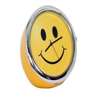 Table Clock Smiley Yellow 5 Cm