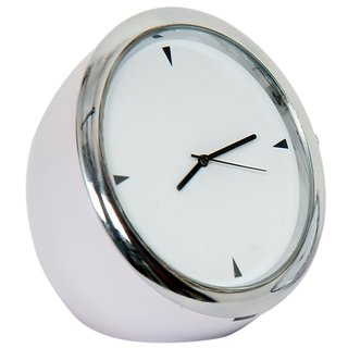 Table Clock Round White 5 Cm