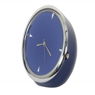 Table Clock Round Blue 5 Cm