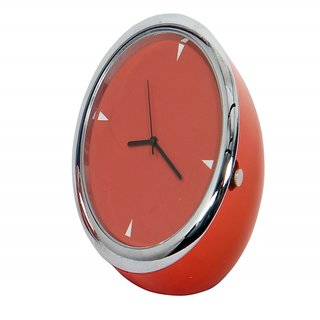 Table Clock Fancy Round Orange 5 Cm