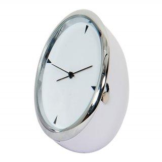 Table Clock Mini White Round 4 Cm